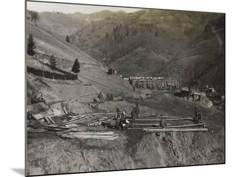 Construction of Military Barracks in the Valley Doblar During the First World War-Luigi Verdi-Mounted Photographic Print