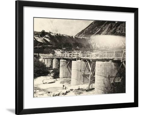 Bridge over the River Isonzo, Near Plezzo in Slovenia. the Structure Was Bombed During WWI-Ugo Ojetti-Framed Art Print