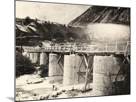 Bridge over the River Isonzo, Near Plezzo in Slovenia. the Structure Was Bombed During WWI-Ugo Ojetti-Mounted Photographic Print