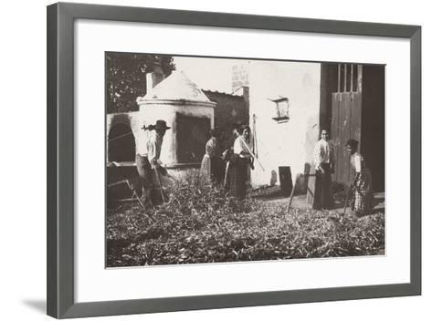 Farmers Beating the Grain-Nicola Biondi-Framed Art Print
