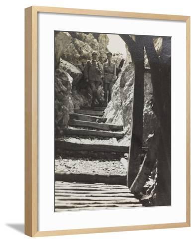 Walkway on Mount Iesa (Jeza) During the First World War-Luigi Verdi-Framed Art Print