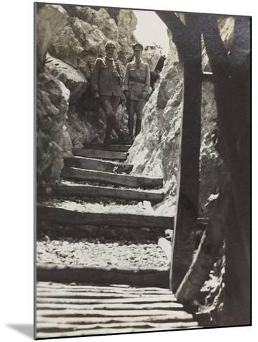 Walkway on Mount Iesa (Jeza) During the First World War-Luigi Verdi-Mounted Photographic Print