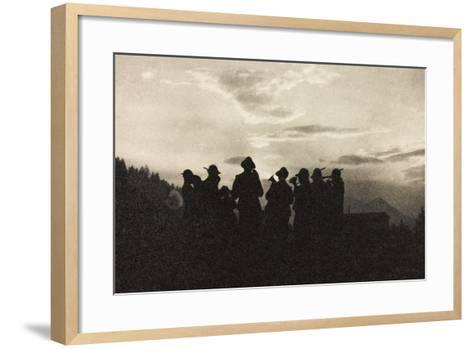 Visions of War 1915-1918: Band of Soldiers Alpine-Vincenzo Aragozzini-Framed Art Print
