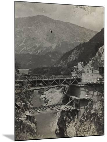 Bridge over the River Isonzo in Caporetto During the First World War-Luigi Verdi-Mounted Photographic Print