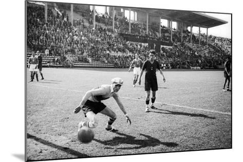 Soccer World Cup 1934: Match at the National Pnf (National Fascist Party) in Rome-Luigi Leoni-Mounted Photographic Print