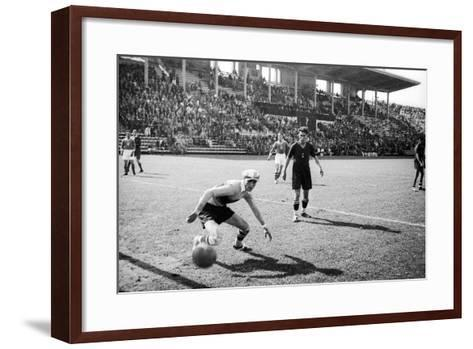 Soccer World Cup 1934: Match at the National Pnf (National Fascist Party) in Rome-Luigi Leoni-Framed Art Print