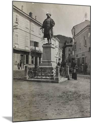 Monument to Maximilian in Plaza of Cormons During the First World War-Luigi Verdi-Mounted Photographic Print
