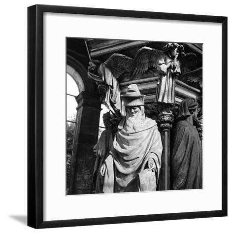 Statue of Moses, for the Well of Moses, Located in the Cloister of the Charterhouse of Champmol-Pietro Ronchetti-Framed Art Print