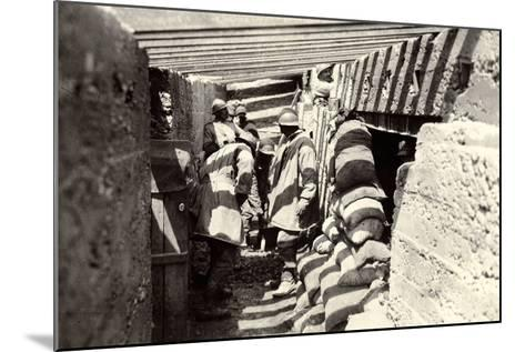New Italian Trenches, after the Advance into Austrian Territory on the Outskirts of Selz-Ugo Ojetti-Mounted Photographic Print