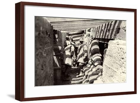 New Italian Trenches, after the Advance into Austrian Territory on the Outskirts of Selz-Ugo Ojetti-Framed Art Print