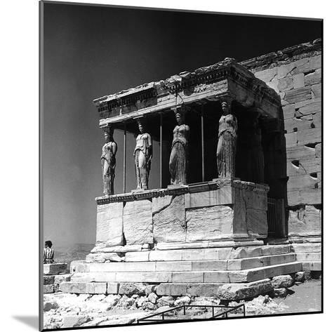 Portico of the Caryatids or Korai, Acropolis, Athens-Pietro Ronchetti-Mounted Photographic Print