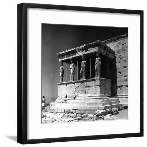 Portico of the Caryatids or Korai, Acropolis, Athens-Pietro Ronchetti-Framed Art Print