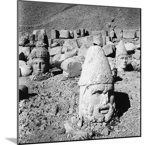 Heads of the Gods, Remains of the Colossal Statues from the Tomb of Antiochus I-Pietro Ronchetti-Mounted Photographic Print