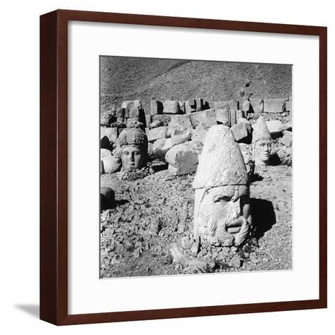 Heads of the Gods, Remains of the Colossal Statues from the Tomb of Antiochus I-Pietro Ronchetti-Framed Art Print