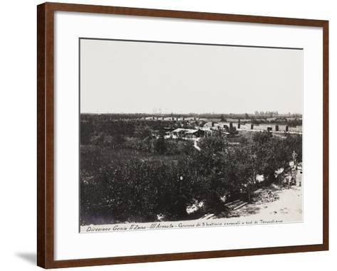 Leadership Corps of Engineers 2nd Area 3rd Army, Group of Three Field Batteries South of Tapoglaino--Framed Art Print