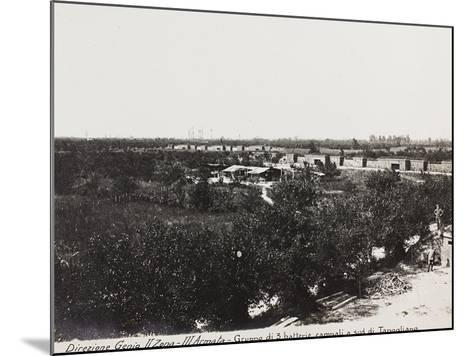 Leadership Corps of Engineers 2nd Area 3rd Army, Group of Three Field Batteries South of Tapoglaino--Mounted Photographic Print