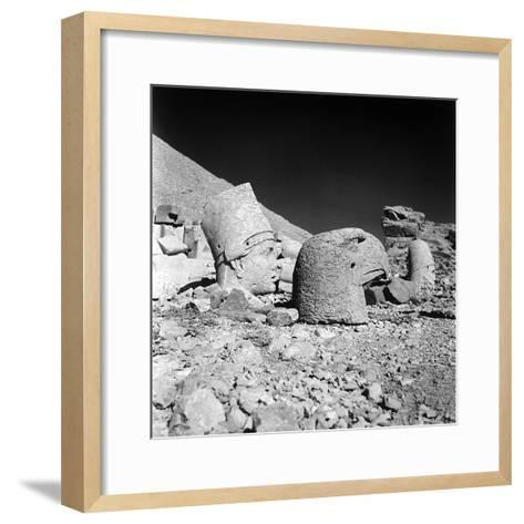 Head of a God and Head of an Eagle, Remains of the Temple of Antiochus I-Pietro Ronchetti-Framed Art Print