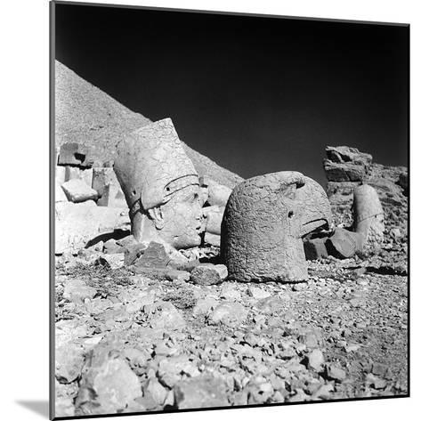 Head of a God and Head of an Eagle, Remains of the Temple of Antiochus I-Pietro Ronchetti-Mounted Photographic Print