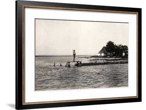 Point Sdobba at the Mouth of the Isonzo River Near the Lagoon of Grado-Ugo Ojetti-Framed Art Print