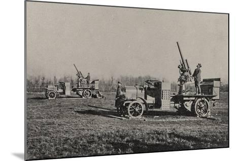 Visions of War 1915-1918: Anti-Aircraft-Vincenzo Aragozzini-Mounted Photographic Print
