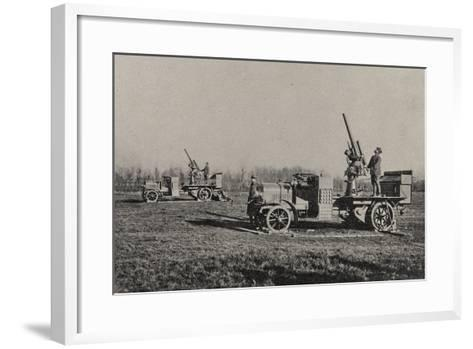 Visions of War 1915-1918: Anti-Aircraft-Vincenzo Aragozzini-Framed Art Print