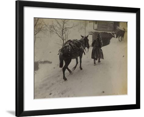 Soldier with Mule in the Valley Doblar During the First World War-Luigi Verdi-Framed Art Print