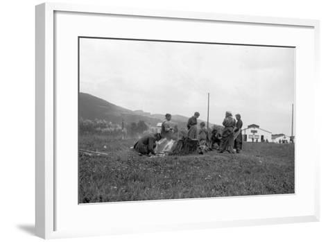 Internment Camp Katzenau, a Suburb of Linz, Austria: a Group of Prisoners--Framed Art Print