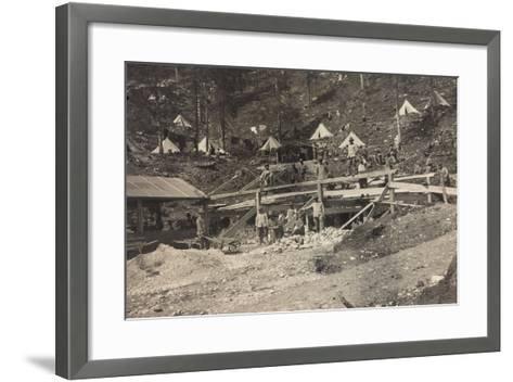 World War I: Vallone Tofana, Building a Barracks--Framed Art Print