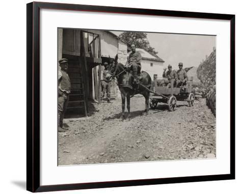 Ambulance 73 Officers During the First World War-Luigi Verdi-Framed Art Print