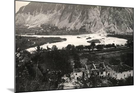 The Isonzo River at Zaga During World War I-Ugo Ojetti-Mounted Photographic Print
