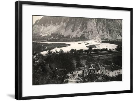 The Isonzo River at Zaga During World War I-Ugo Ojetti-Framed Art Print