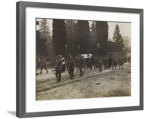 Military Funeral in Soleschiano During the First World War-Luigi Verdi-Framed Art Print