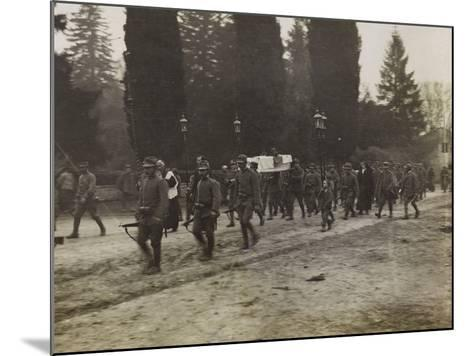 Military Funeral in Soleschiano During the First World War-Luigi Verdi-Mounted Photographic Print