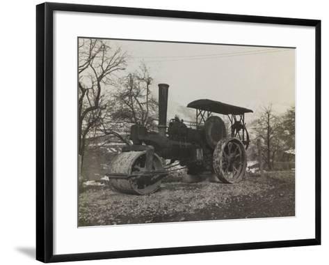 Compressor of the Italian Army During the First World War-Luigi Verdi-Framed Art Print