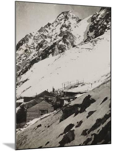 First World War: Military Shelter in Punta Lagoscuro--Mounted Photographic Print