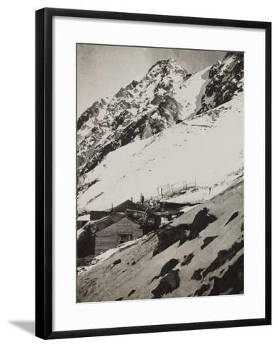 First World War: Military Shelter in Punta Lagoscuro--Framed Art Print