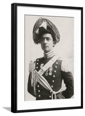 Lieutenant of Police in Full Uniform with Two Bronze Medals for Valor and Medals of WWI--Framed Art Print