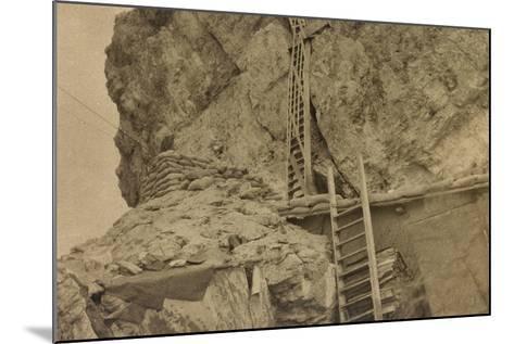 World War I: Ladders Centre 's Averau--Mounted Photographic Print