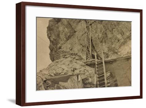 World War I: Ladders Centre 's Averau--Framed Art Print