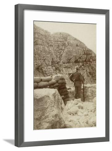 A Military Lookout During the First World War--Framed Art Print