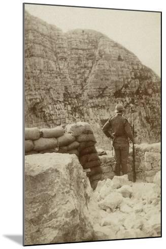 A Military Lookout During the First World War--Mounted Photographic Print