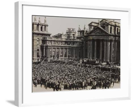 World War I: Crowd Attends an Official Event at Blenheim Palace in Woodstock--Framed Art Print