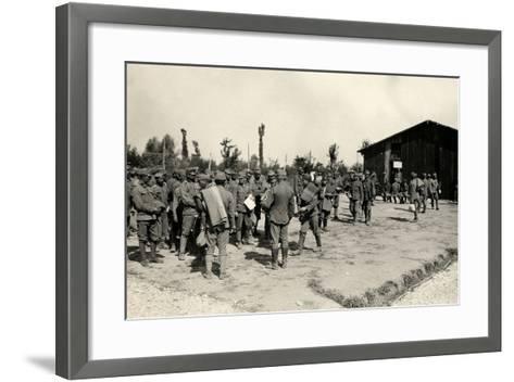 Encampment of Austrian Prisoners in Bagnaria Arsa-Ugo Ojetti-Framed Art Print