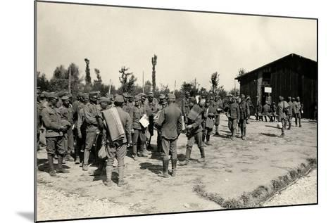 Encampment of Austrian Prisoners in Bagnaria Arsa-Ugo Ojetti-Mounted Photographic Print