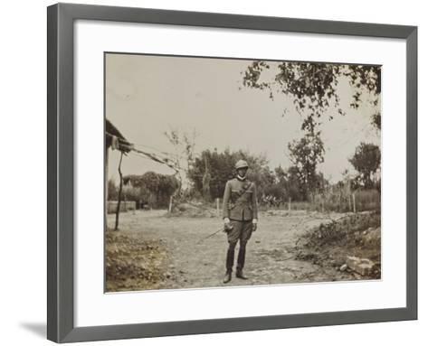 Campagna Di Guerra 1915-1916-1917-1918: Portrait of Jack Bosio in Santo Stefano--Framed Art Print