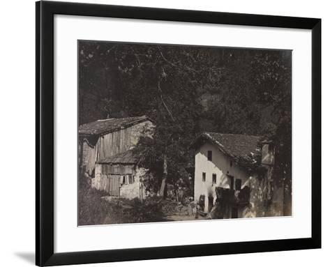 Free State of Verhovac-July 1916: Houses in Ghialloz--Framed Art Print