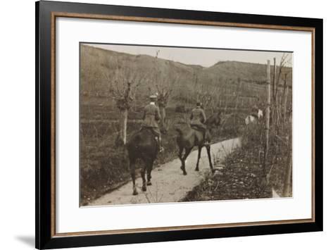Campagna Di Guerra 1915-1916-1917-1918: Soldiers on Horseback--Framed Art Print