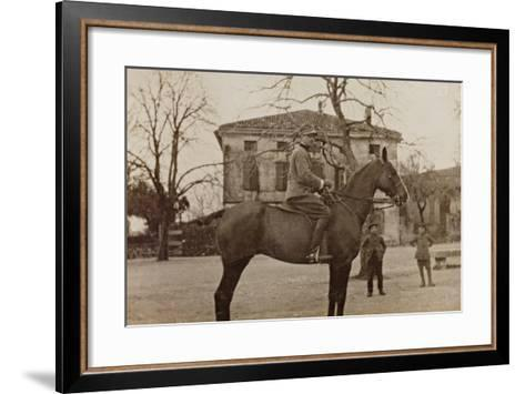 Campagna Di Guerra 1915-1916-1917-1918: Soldier on Horseback--Framed Art Print