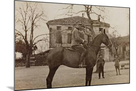 Campagna Di Guerra 1915-1916-1917-1918: Soldier on Horseback--Mounted Photographic Print
