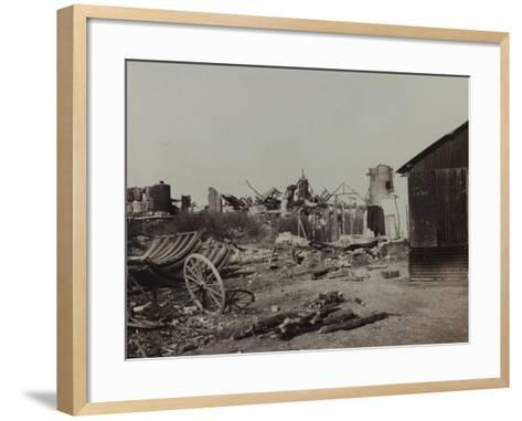 Sugar Factory in Berry-Au-Bac Destroyed by Bombing During World War I--Framed Art Print